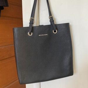 Michael Kors Laptop/Tote Bag Black with Silver